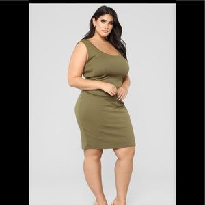 Fashion nova Love Every Bit Of Me Midi Dress Olive